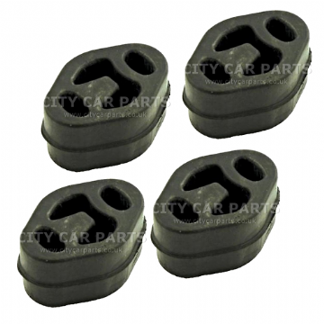 4 X FORD COUGAR FIESTA GALAXY MONDEO EXHAUST RUBBER MOUNT HANGER MOUNTING EMR050